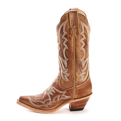 Justin Bent Rail Tan Cowgirl Boots|