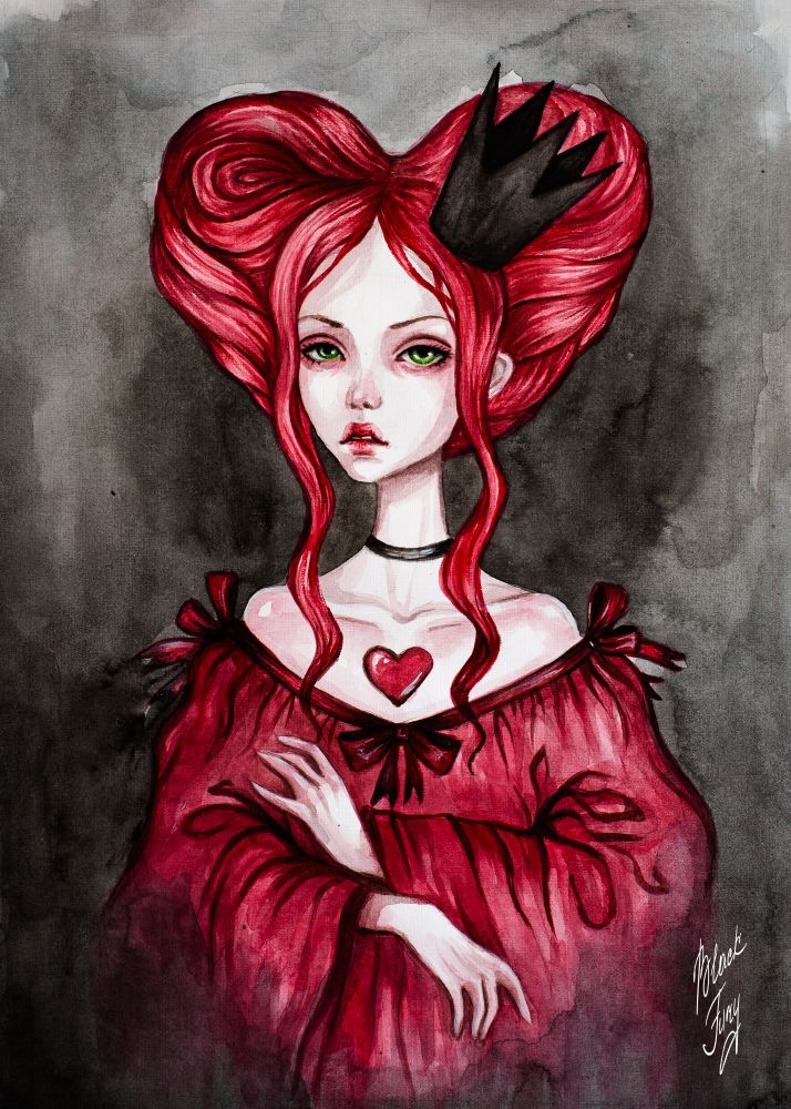 Queen of Hearts by BlackFurya.deviantart.com on @DeviantArt