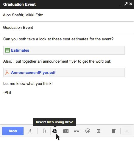 Gmail now lets you insert up to 10GB of Google Drive files directly into an email