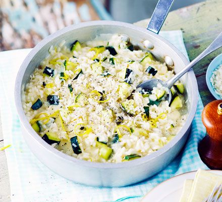 An easy vegetarian one-pot risotto - simply stir in your seasonal veg, simmer and enjoy