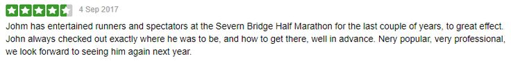 I received this great review following my participation in this year's @SevernBridgeHalfMarathon &10k. Thank you to Andy of @Rogueruns Very much appreciated :-)  #SouthWales #Bagpipes #NewportWales #Newport #Chepstow #Abergavenny #Usk #Bristol #ServernBridgeHalf #Swansea #Bridgend #ValeofGlamorgan #RCT #Gwent #Wales