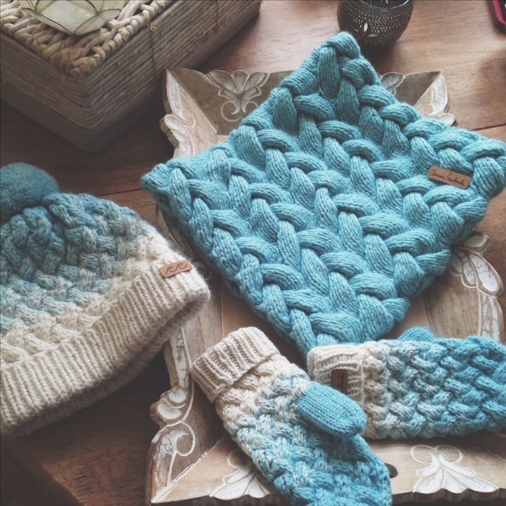 My cozy knits (handknitted snood, hat, mittens by Svetlana Selivanova )