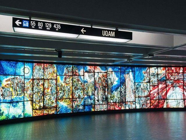 Subway Stations With Amazing Art Montreal, Quebec L'Histoire De La Musique à Montreal, Place-Des-Arts Metro Station