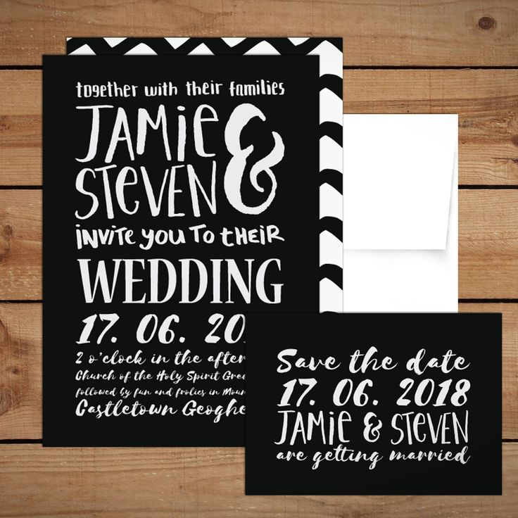 White Hand lettered Wedding InvitationsWedding Invitations to start your exciting adventure together