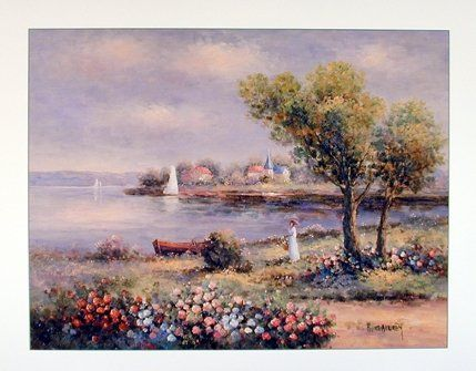 Wow it's amazing! Bring a touch of humor to your room with this beautiful wall poster. This poster displays the image of country cottage, beautiful lake near the cottage and vibrant colorful flowers which add extreme beauty into this poster that is sure to grab lot of attention. This poster makes any space center of attraction and goes with all décor style. So what are you waiting for, Buy this beautiful wall poster for its excellent quality and perfect color accuracy.