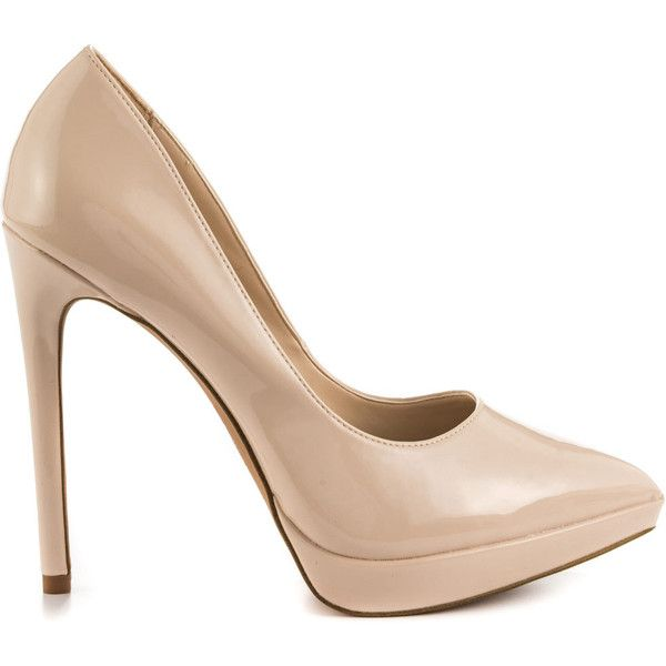 Beige Patent Leather Shoes