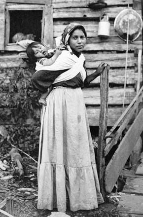 Cherokee Indians value their family, however different from most situations, the women is under absolute control of everything. She holds her clans name, all the children belong to her, and the man must settle in her village after the marriage ceremony. The man is there to make children and provide meat for the family. As the husband's ability to hunt exceeded the needs of his family, it is common that he is then allowed to have more than 1 wife.