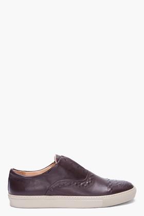 Alexander McQueen Dark Brown Embossed Leather Shoes for men | SSENSE
