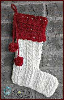 **PATTERN** This Christmas Stocking is worked flat, making it easy and quick to work up. The cables give this stocking a classic and timeless look, making sure it is loved by all generations. This makes the perfect gift, as it is sure to be cherished for years to come.