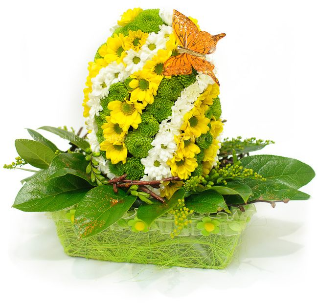 Яйцо из цветов