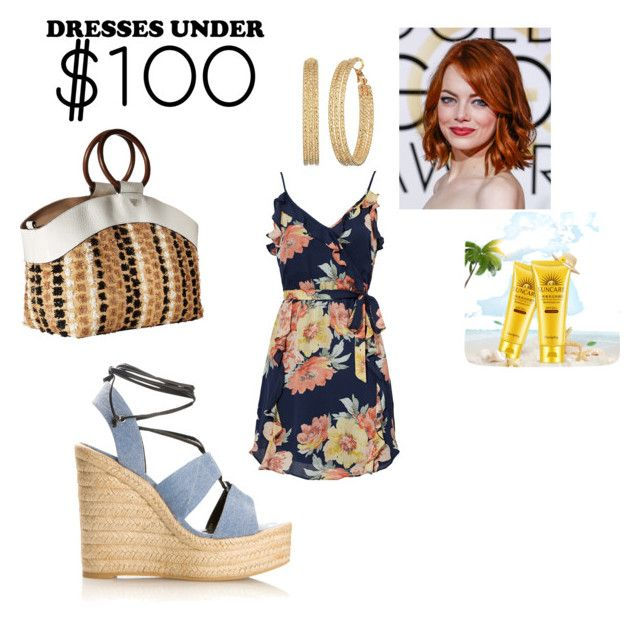 """""""платье отпуск"""" by antika-04 ❤ liked on Polyvore featuring Yves Saint Laurent, Sam Edelman, Joie and GUESS"""