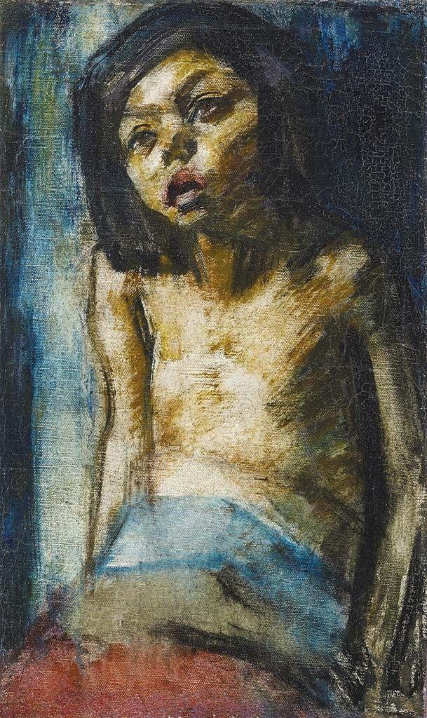 Vaszary János (1867-1939) Fiatal lány portréja