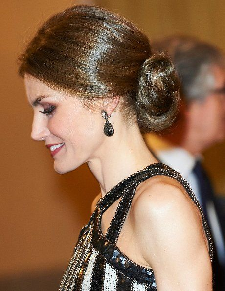 Argentina's President Mauricio Macri and wife Juliana Awada hosted a reception in honour of King Felipe of Spain and Queen Letizia of Spain at El Pardo Palace on February 23, 2017 in Madrid, Spain. President Mauricio Macri and his wife are on a four-day State visit to Spain in order to strengthen bilateral ties.