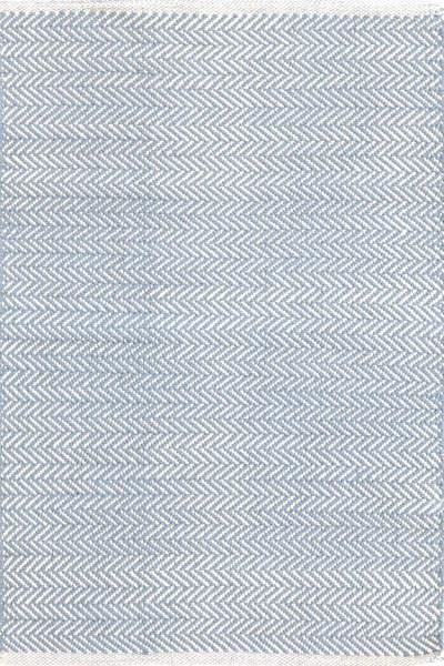 #DashAndAlbert Herringbone Swedish Blue Woven Cotton #Rug. You asked, and we listened! Another terrific Dash & Albert lightweight woven cotton area rug, this time in a classic herringbone pattern.