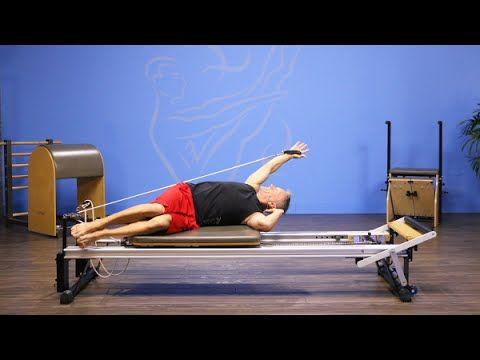 Side-Lying Arm Circle on Pilates Reformer - YouTube