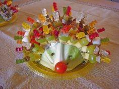 Gartenliebes bunter Spieße-Igel mit Gummibären 1