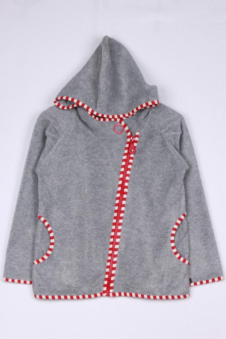 Minymo Girls Charcoal Fleece Hooded Jacket   Girls Hoodies - Adams.co.uk