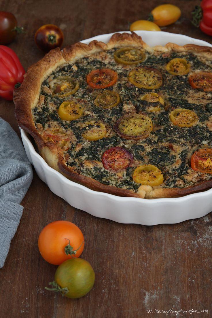 vegane spinat quiche mit bunten tomaten und meine tk-weisheiten. // nikesherztanzt