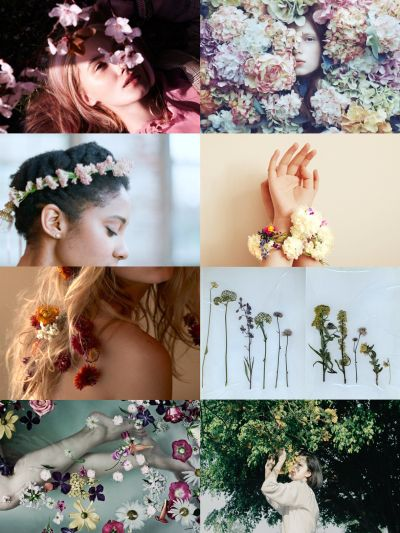 flower witches the winter is quiet, for them. but spring arrives, and settles, in the form of trees crowned in green and warm, alien breezes and - finally, finally - flowers pulling themselves up and out of the soil. it is time for them to bloom.