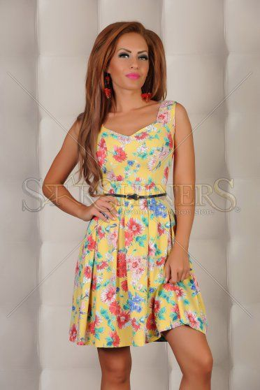 Rochie LaDonna Floral Beauty Yellow