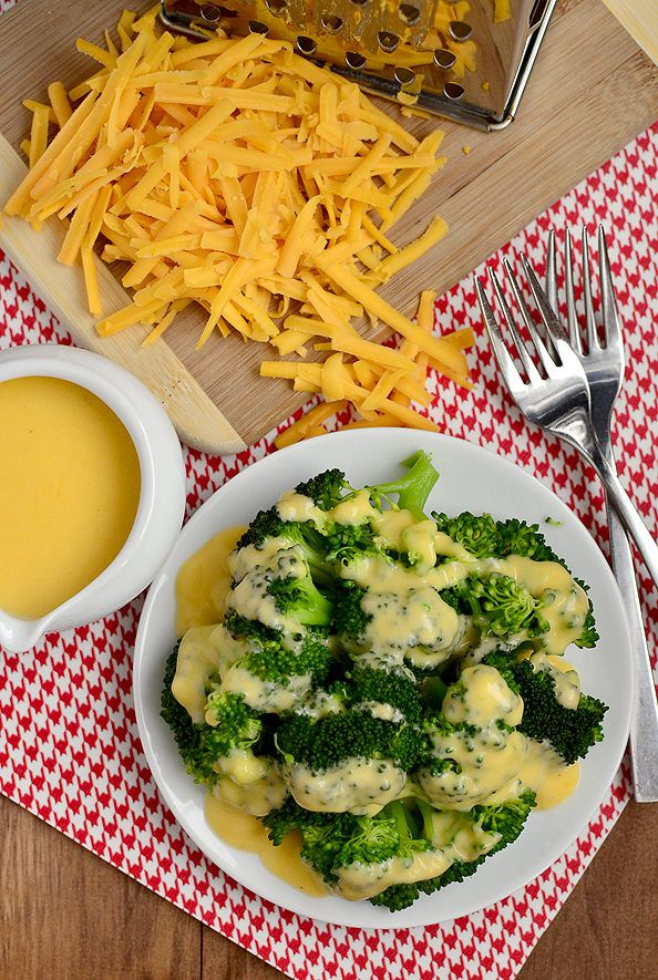 Easy Cheddar Cheese Sauce for Vegetables | iowa girl eats