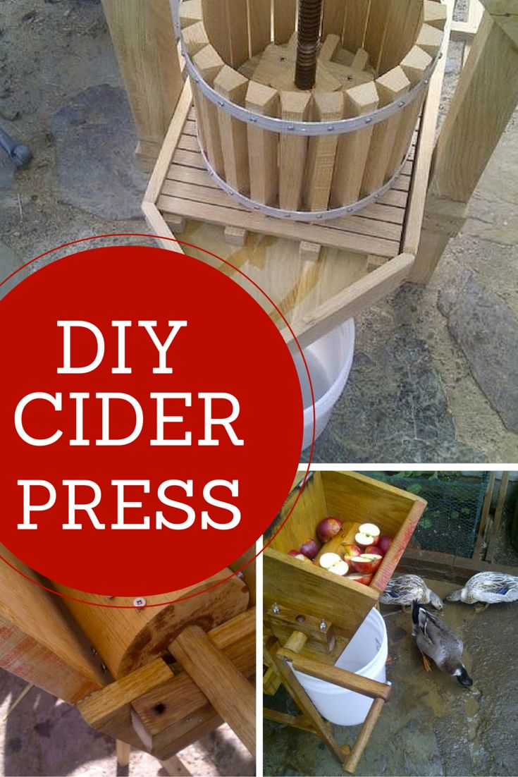Yes, you can make your own apple cider press. This would be the perfect DIY project for fall when the apple season is in full swing.