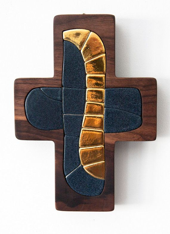 Cross  Original artwork hand made ceramic mosaic by LuboMichalko - christian art - €100.00