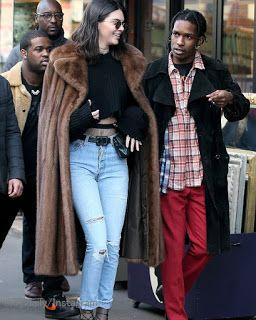 Celebrity Style | 海外セレブ最新ファッション情報 : 【ケンダル・ジェンナー】モダンなファーコートを着こなしてエイサップ・ロッキーとお買い物デート!