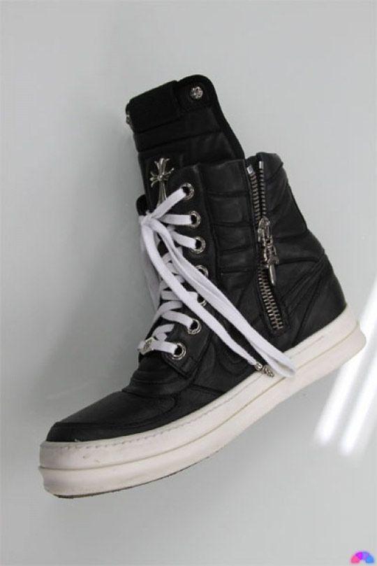 Chrome Hearts x Rick Owens Sneakers. I fuckin need my first pair of rick owen.