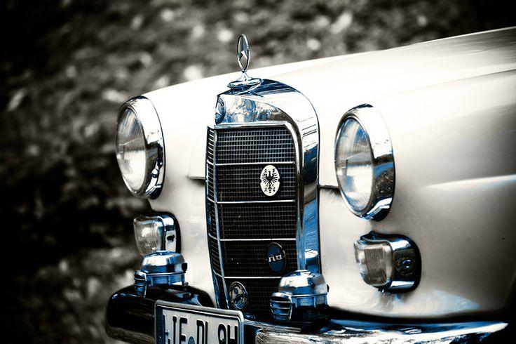 Mercedes Benz Heckflosse - Front in blau