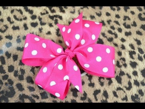 getlinkyoutube.com-How To Make A Pinwheel Hair Bow