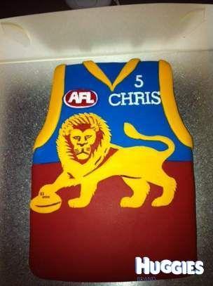 Brisbane Lions Birthday Cake