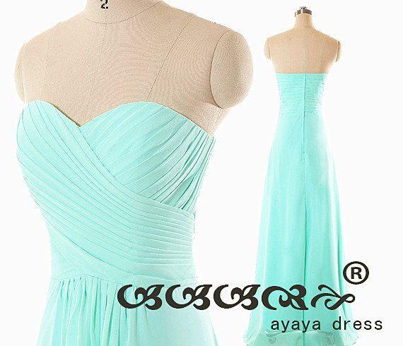 On Sale Mint green Bridesmaid Dress cheap bridesmaid by ayayadress