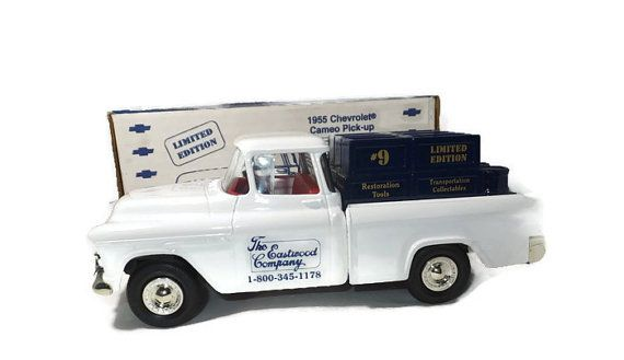 ♢§ 1955 Chevrolet Cameo Pick Up Model, Die Cast 1 25 Scale, Eastwood Company, Limited http://etsy.me/2cSWrpN