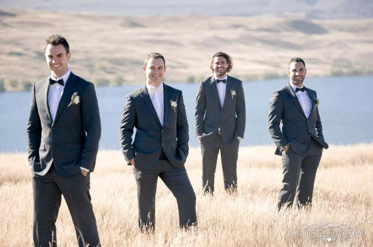 The groom and groomsmen look dashing. Check out other wedding photography by Anthony Turnham at www.snapweddingphotography.co.nz