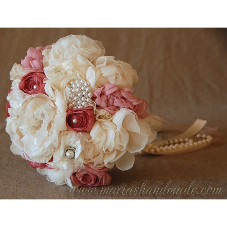 Bridal bouquet by M.aria's Handmade fabric bridal bouquets