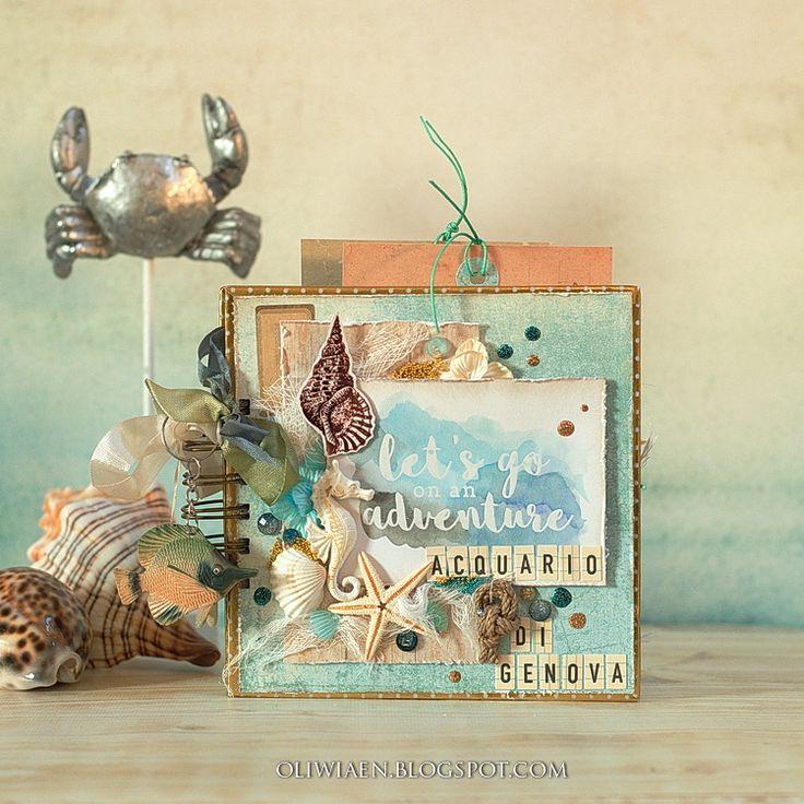 Maja Nowak, CraftHobby Oliwiaen: Minialbum w stylu marynistycznym. #marine; #minialbum; #scrapbooking; #polandhandmade