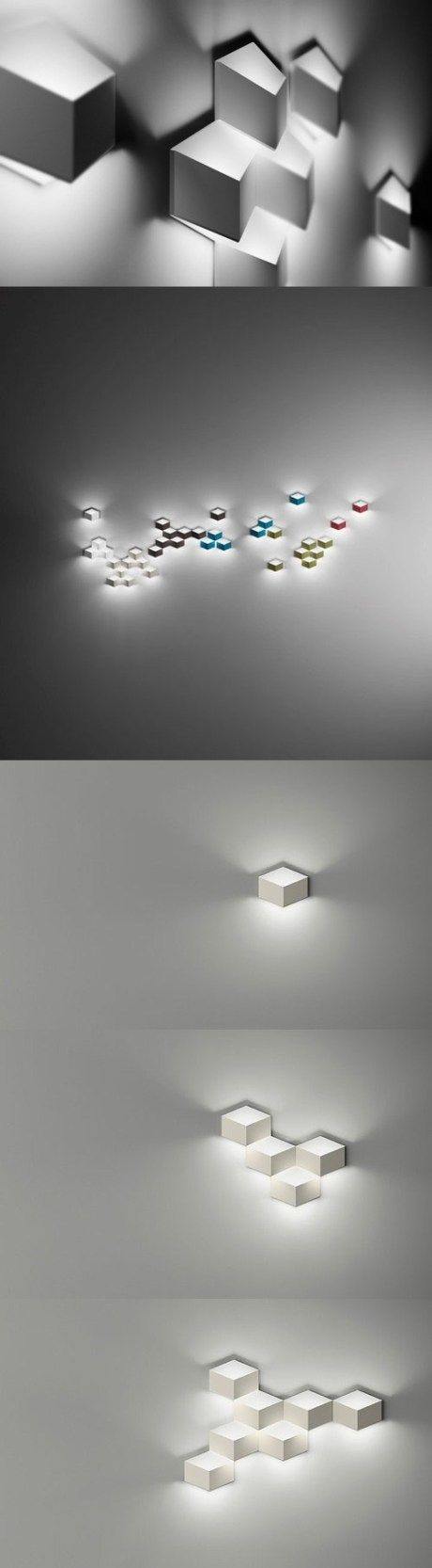 These lights show modularity because they all share the same shape and create a pixelated look due to repetition.