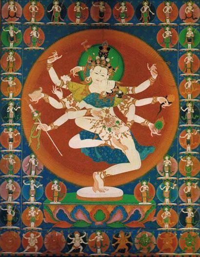 チベット密教 官能的曼荼羅図