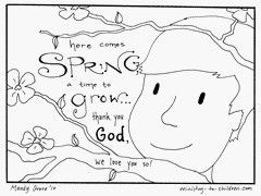 Girl And Boy Spring Coloring Sheet Pages For Kids Thank You God Your Will Love These