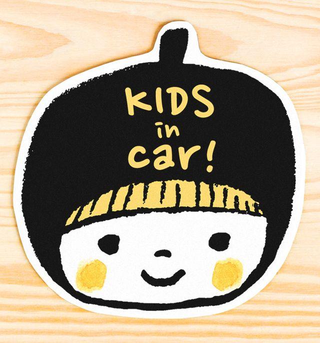 ハンドメイドマーケット minne(ミンネ)| KIDS IN CAR マグネットステッカー(ブラック)