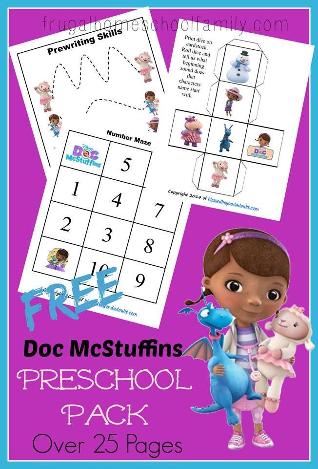 FREE Doc McStuffins Preschool Pack