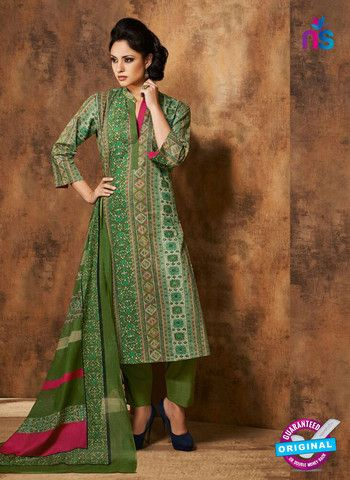 Rivaa 207A - Green Color Cotton Designer Suit