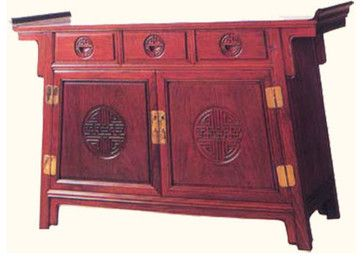 Oriental Altar Cabinet Carved Rosewood asian storage units and cabinets