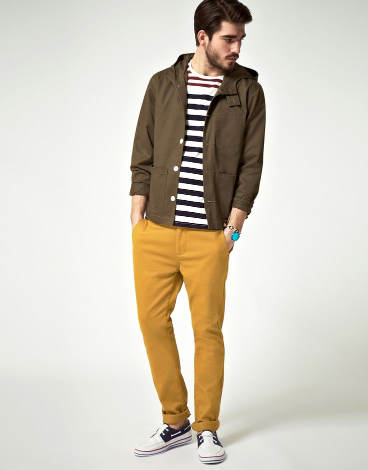 Asos Skinny Chino in Yellow for Men (mustard) | Lyst