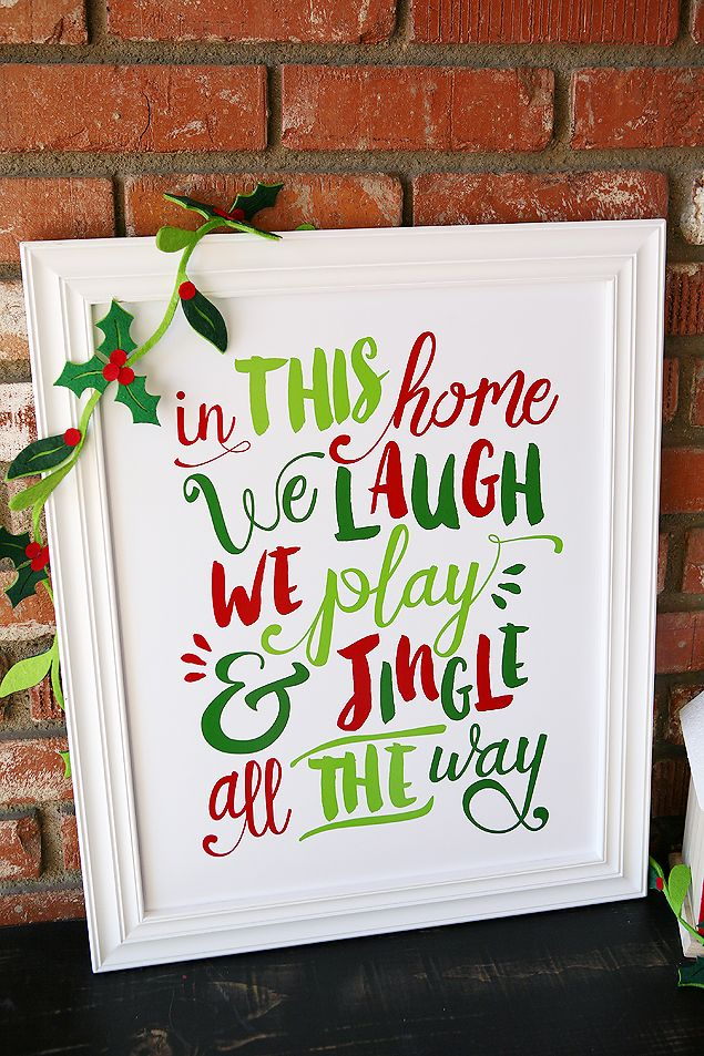 Christmas Crafts For Family Part - 44: Free Jingle All The Way Prints
