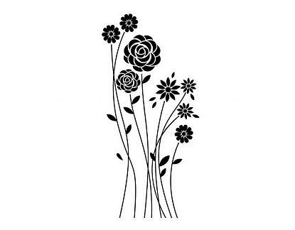 . Vinilos Florales Rasgos minimalistas florales 03441