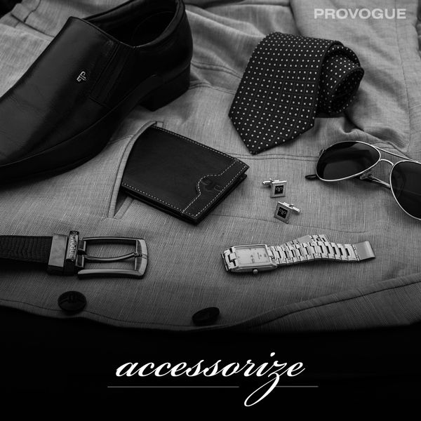 Buy a wide range of accessories for men - belts, sunglasses, wallets, fragrances, watches & ties - Shop Now at www.provogue.com