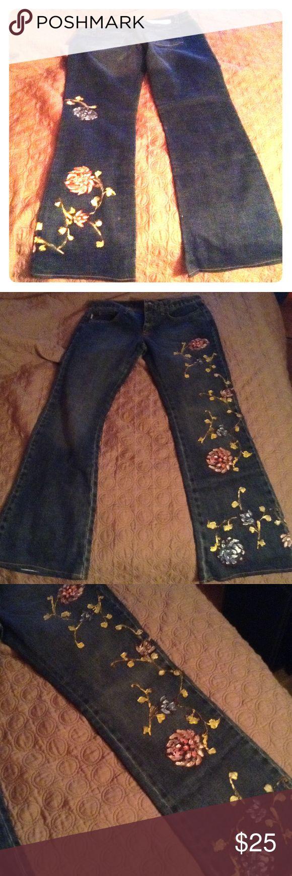 Iceberg flower jeans NWOT authentic iceberg jeans Iceberg Jeans Boot Cut