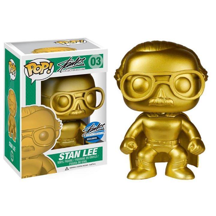 Pop Stan Lee Collection Gold Superhero Funko